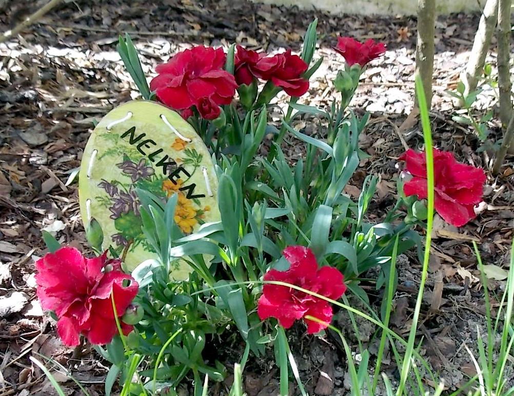 Blumenstecker aus Korbboden