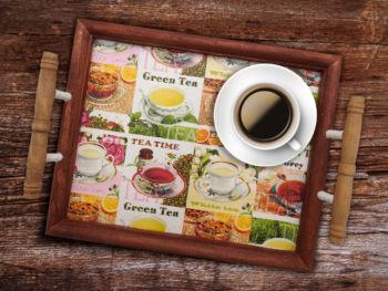 Tea-Time Tablett mit Serviettentechnik